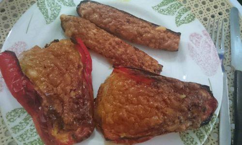 Peperoni e zucchine ripieni