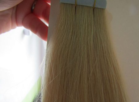 Extension bionde capelli veri
