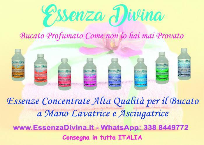 Profumazioni delicate e persistenti per indumenti Essenza Divina per rendere i tuoi capi speciali e immergerti nel loro profumo.
